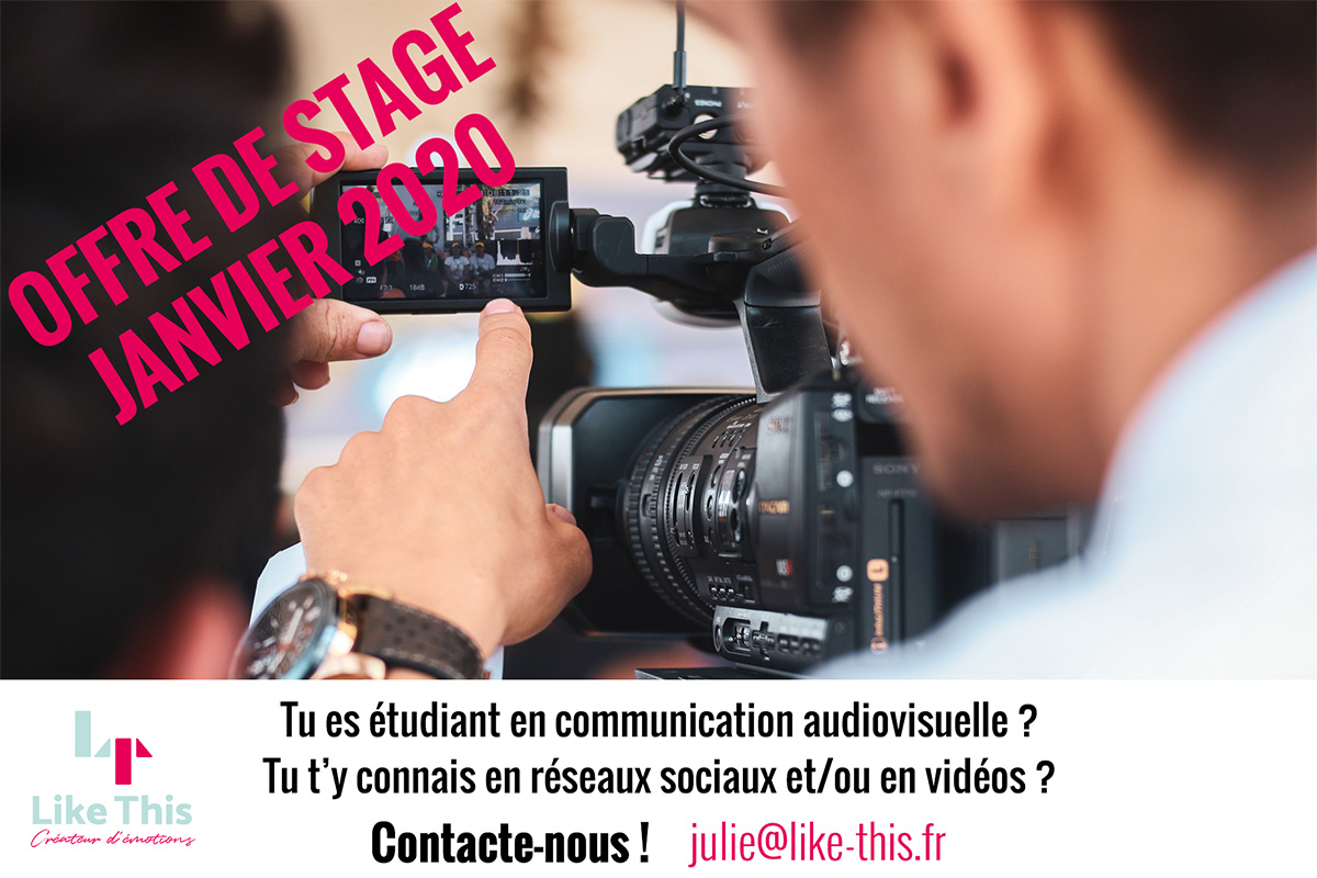 Stage Audiovisuel chez Like This